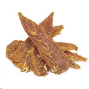Sušené kuracie mäso vhodné ako BARF odmena pre tvojho havkáča.